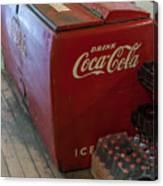 Coca-cola Chest Cooler General Store Canvas Print