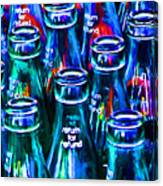 Coca-cola Coke Bottles - Return For Refund - Painterly - Blue Canvas Print