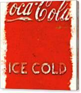 Coca-cola Cooler Canvas Print