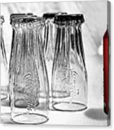 Coca-cola Glasses And Can - Selective Color By Kaye Menner Canvas Print