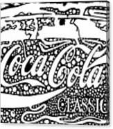 Coca-cola Maze Advertisement  Canvas Print