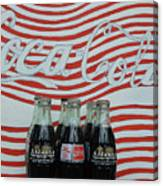 Coca Cola Olympic Commemorative Bottles Canvas Print