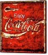 Coca Cola Square Soft Grunge Canvas Print