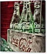 Coca Cola Vintage 1950s Canvas Print