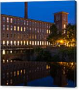 Cocheco Mills At Blue Hour Dover New Hampshire Canvas Print