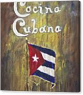 Cocina Cubana Canvas Print
