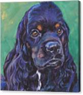 Cocker Spaniel Head Study Canvas Print