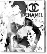 Coco Chanel Grunge Canvas Print