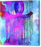 Coco Chanel Liquidated Logo Colorful Canvas Print