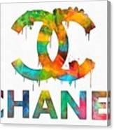 Coco Chanel Paint Splatter Color Canvas Print