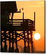 Cocoa Beach Pier/sunrise Canvas Print