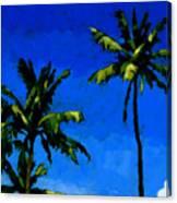 Coconut Palms 5 Canvas Print