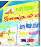 Coconut Shakes Canvas Print