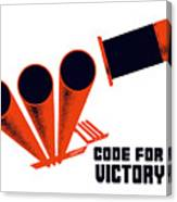 Code For Victory - Ww2 Canvas Print