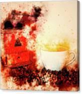 Coffe Grinder Canvas Print