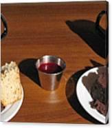 Coffee And Chocolate Cake. Mountain House Inn Canvas Print