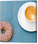 Coffee And Donut Canvas Print
