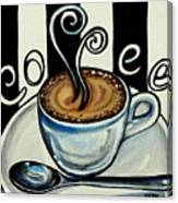 Coffee At The Cafe Canvas Print