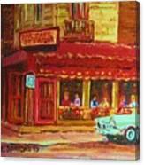 Coffee Bar On The Corner Canvas Print