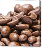Coffee Beans Closeup Canvas Print