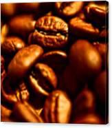 Coffee  Beans- Gold Canvas Print