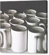 Coffee Cups- By Linda Woods Canvas Print