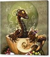 Coffee Dragon Canvas Print