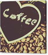Coffee Heart Canvas Print