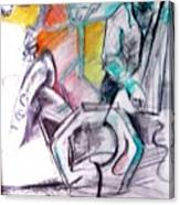 Coffee House Jazz Canvas Print