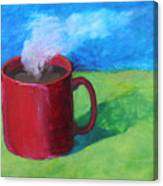 Coffee Landscape Canvas Print