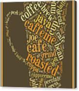 Coffee Lovers Word Cloud Canvas Print