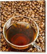 Coffee On Roasted Beans Canvas Print