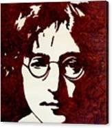 Coffee Painting John Lennon Canvas Print