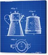 Coffee Pot Patent 1916 Blue Print Canvas Print