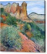 Coffee Pot Rock Sedona Arizona Usa 2001   Canvas Print