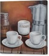 Coffee Set Canvas Print