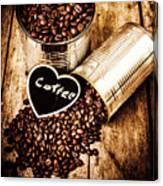 Coffee Shop Love Canvas Print