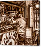 Coffee Time At The Station. Canvas Print