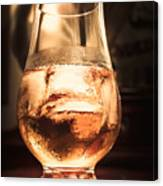 Cognac Glass On Bar Counter Canvas Print