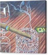 Cohiba And  Wine Canvas Print