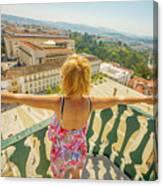 Coimbra Aerial Woman Canvas Print