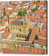 Coimbra Cathedral Aerial Canvas Print