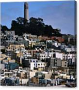Coit Tower In San Francisco Canvas Print