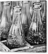Coke Bottles-bw Canvas Print
