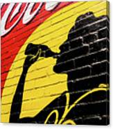 Coke Girl Silhouette  Canvas Print