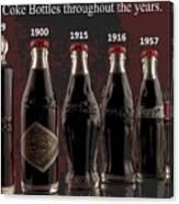 Coke Through Time Canvas Print