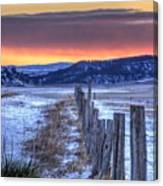 Cold Country Sunrise Canvas Print