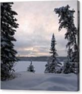 Cold Dawn On Boot Lake Canvas Print
