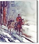 Cold Hunt Canvas Print
