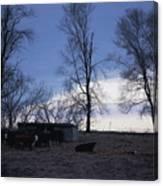Cold Iowa Evening Canvas Print